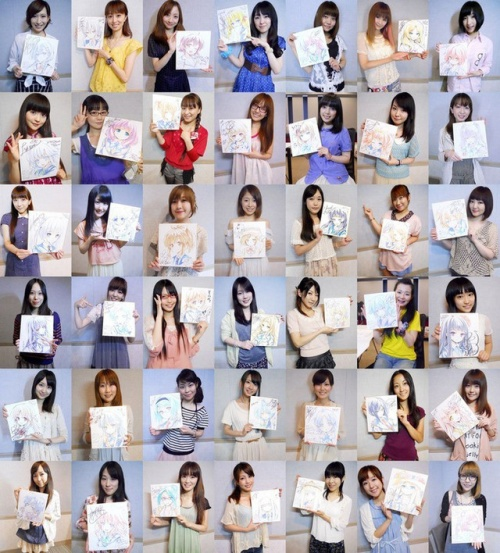 A look at the massive amount of voice actresses for the game